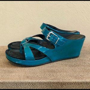 Donald J Pliner Gin Leather Wedge Sandal